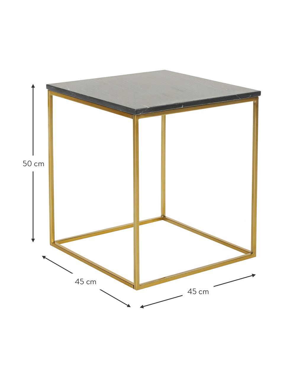 Table d'appoint marbre Alys, Plateau: granit noir Structure: couleur dorée, brillant