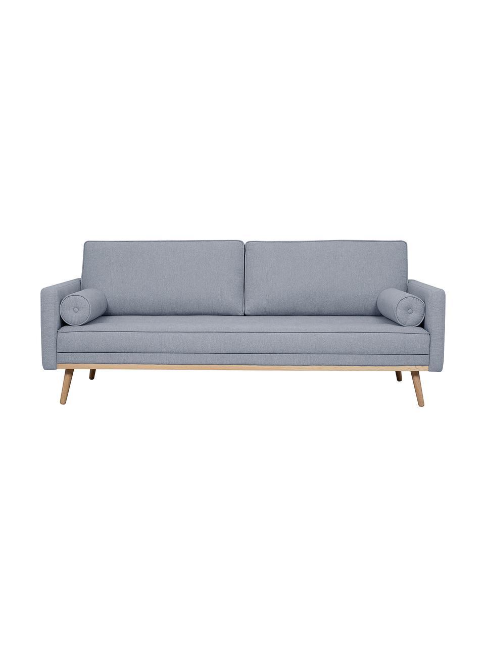 Canapé 3places bleu-gris Saint, Tissu bleu-gris