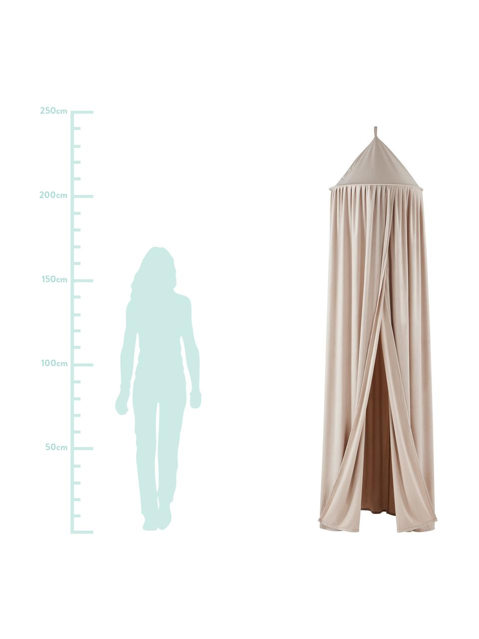 Betthimmel Savannah, 100% Polyester., Beige, Ø 55 x 240 cm