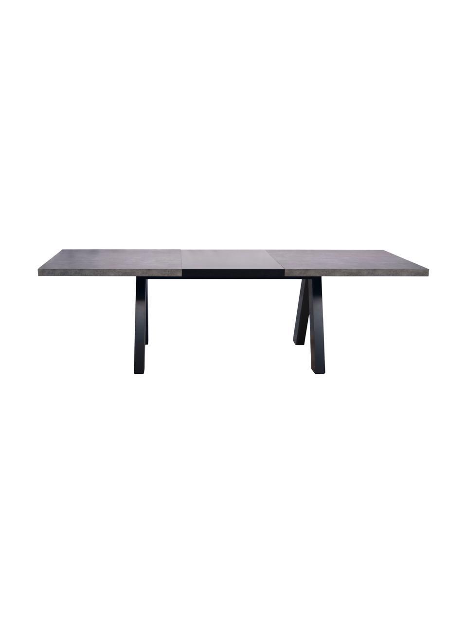 Table extensible aspect béton Apex, Imitation béton, noir