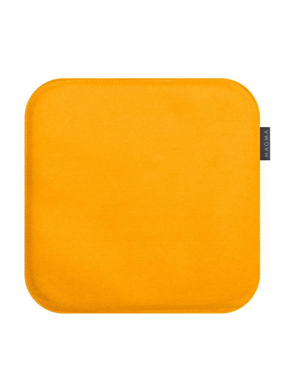 Cuscino sedia Avaro Square 4 pz, Ocra, Larg. 35 x Lung. 35 cm