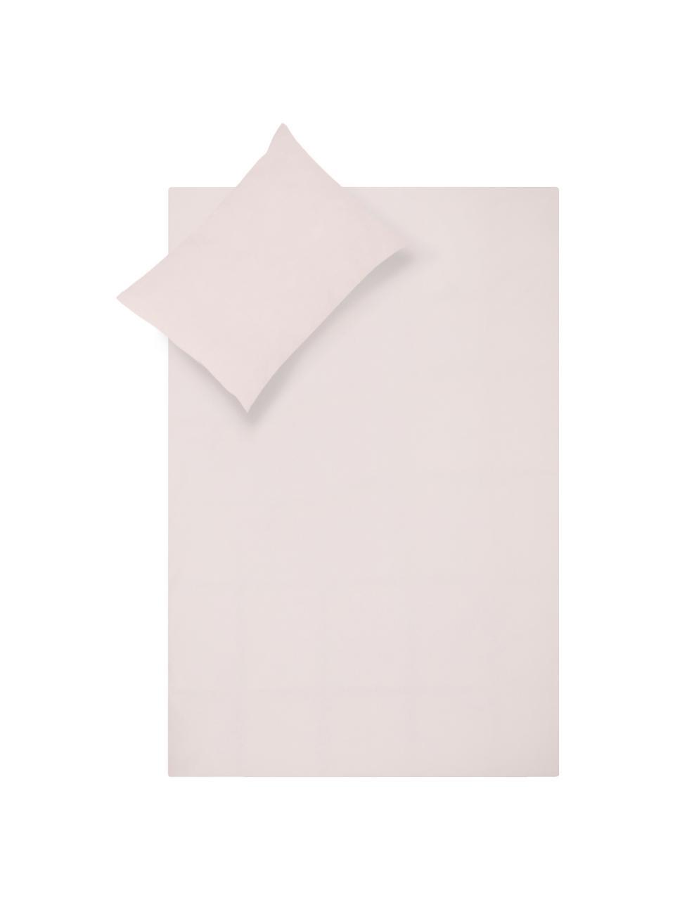 Set lenzuola in percalle Elsie, Tessuto: percalle Densità del filo, Rosa, 240 x 300 cm