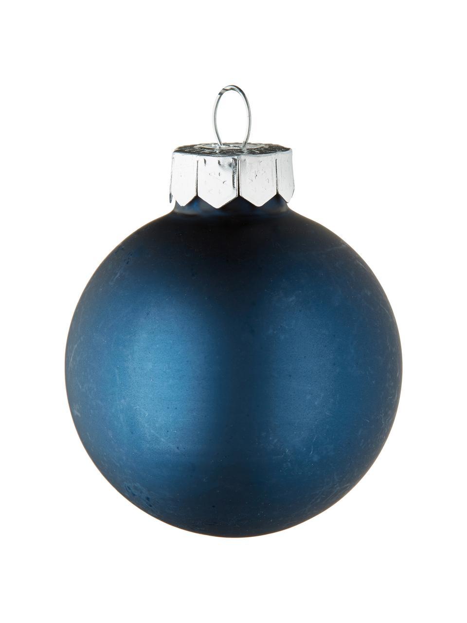 Set 16 mini palline di Natale Evergreen Ø 4 cm, Blu scuro, Ø 4 cm