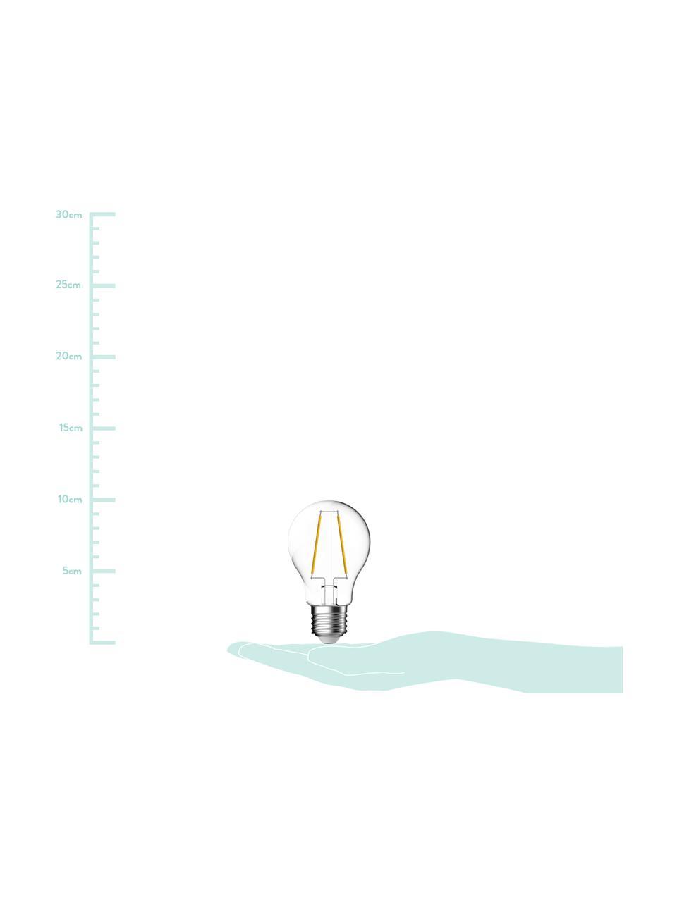 E27 Leuchtmittel, 7W, warmweiß, 1 Stück, Leuchtmittelschirm: Glas, Leuchtmittelfassung: Aluminium, Transparent, Ø 6 x H 10 cm