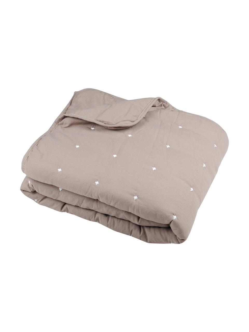 Narzuta Honorine, 100% poliester, Taupe, 220 x 240 cm (do łóżek od 160 x 200)