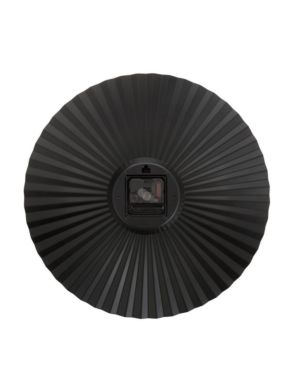 Wanduhr Sensu, Ziffernblatt: Stahl, lackiert, Zeiger: Metall, Schwarz, Ø 40 cm