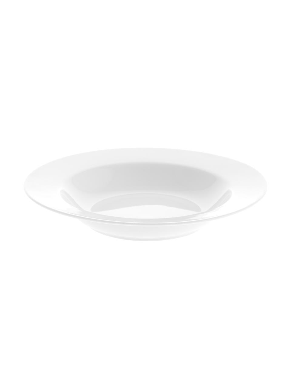 Piatto fondo in porcellana Delight Classic 2 pz, Porcellana, Bianco, Ø 23 x Alt. 4 cm