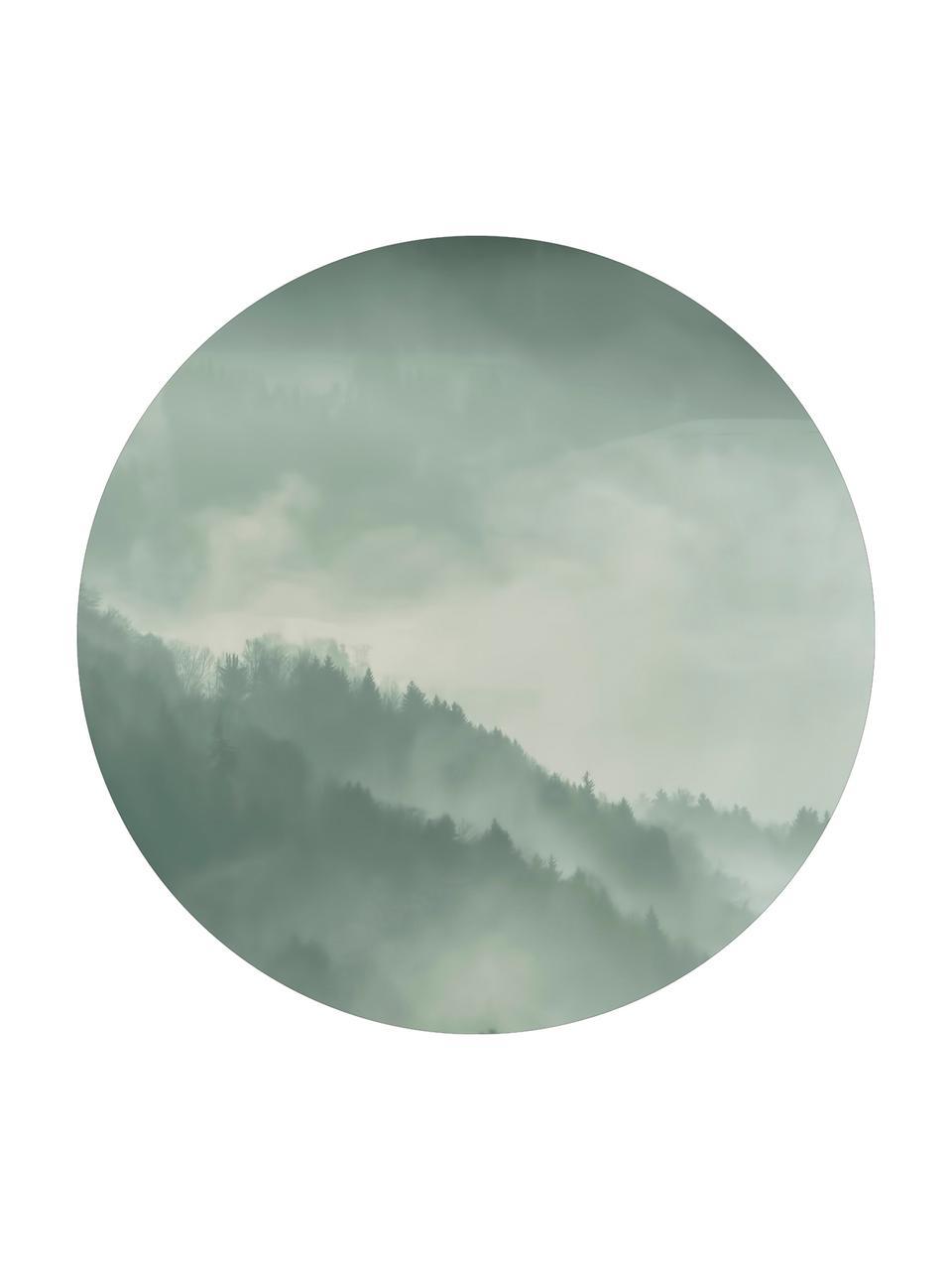 Wandbild Holy Land, rund, Mitteldichte Holzfaserplatte (MDF), bedruckt, Grau, Weiß, Ø 70 cm