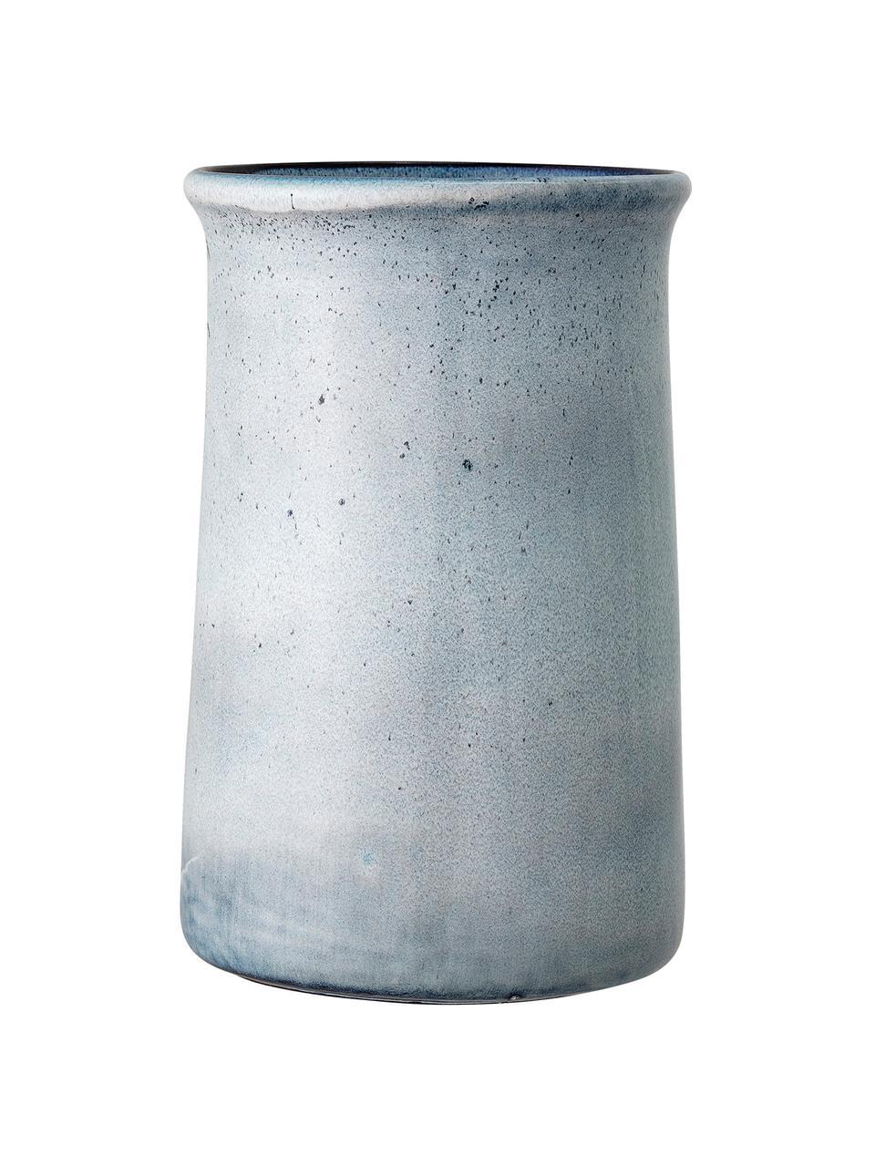 Handgemachter Flaschenkühler Sandrine in Blau, Steingut, Blautöne, Ø 15 x H 23 cm