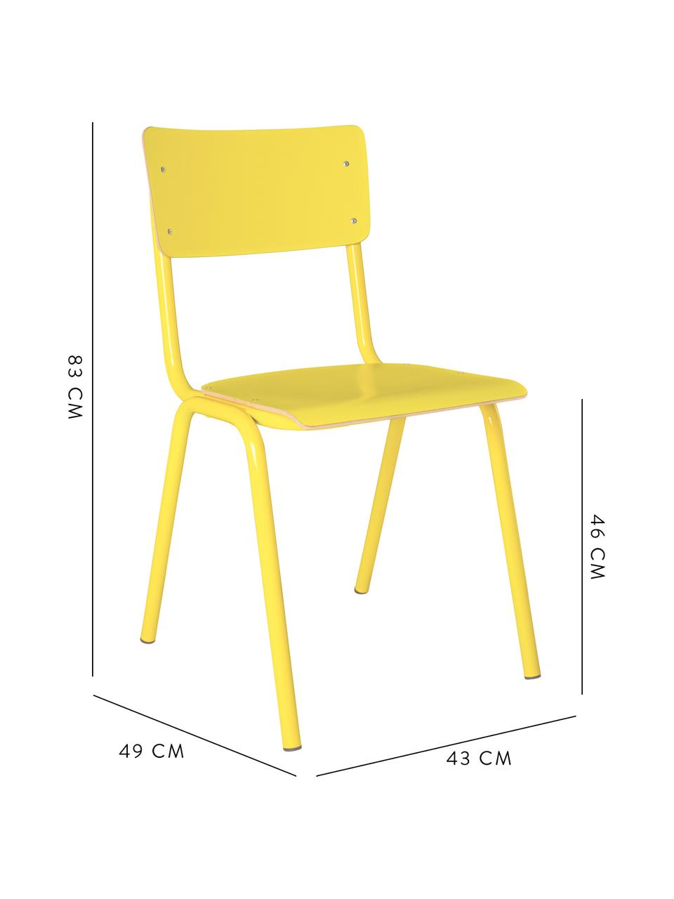Chaise enfant Back to School, Jaune