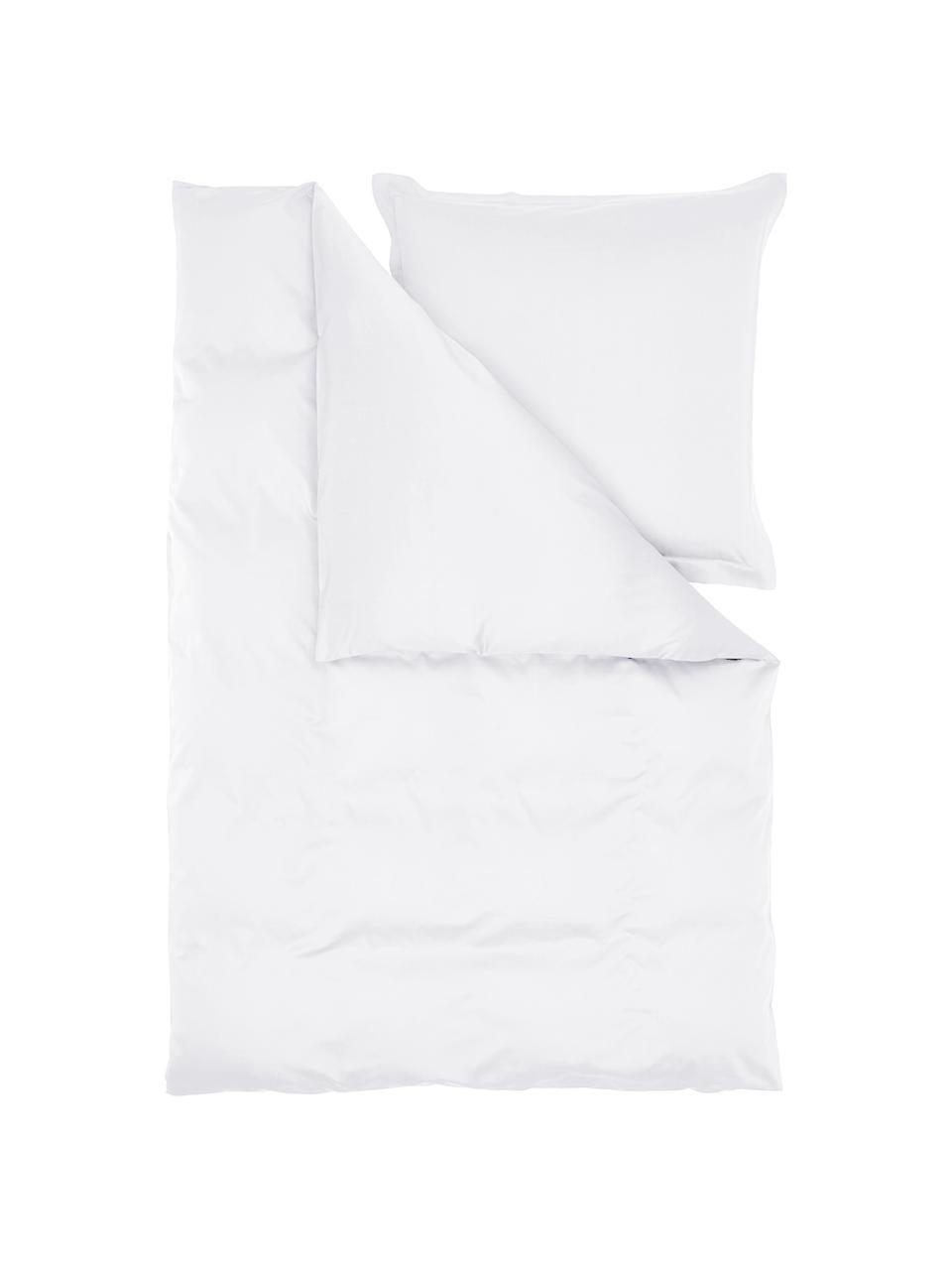 Pościel z satyny bawełnianej Premium, Biały, 135 x 200 cm