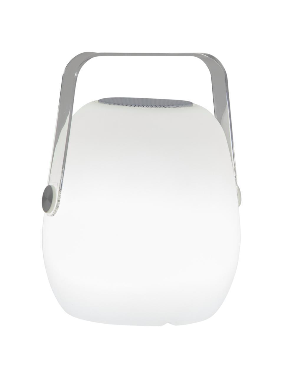 Přenosná stmívatelná venkovní stolní lampa Voice, Bílá