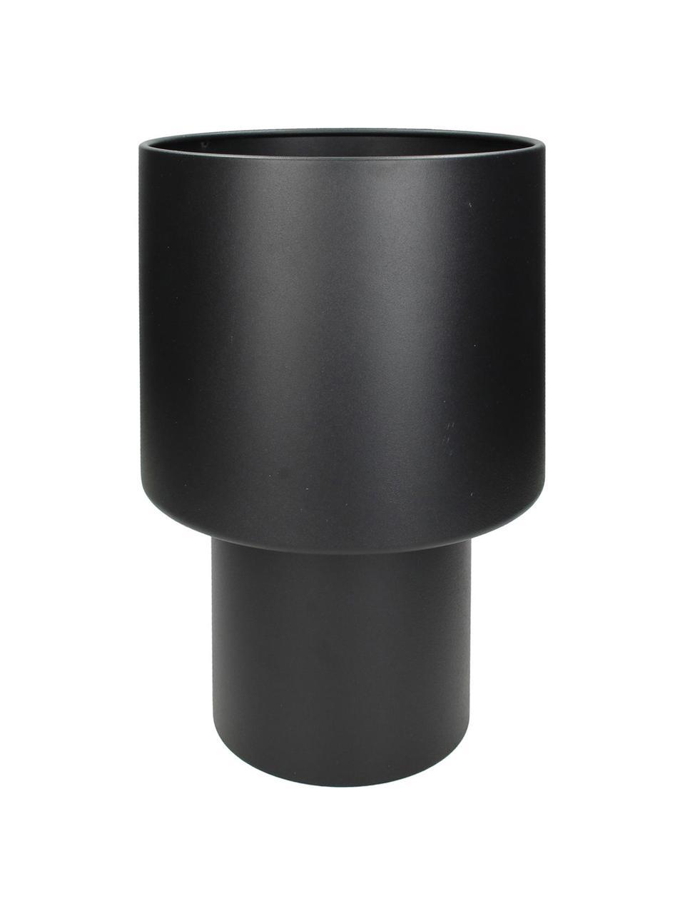 Übertopf Glavus aus Metall, Metall, beschichtet, Schwarz, Ø 23 x H 35 cm