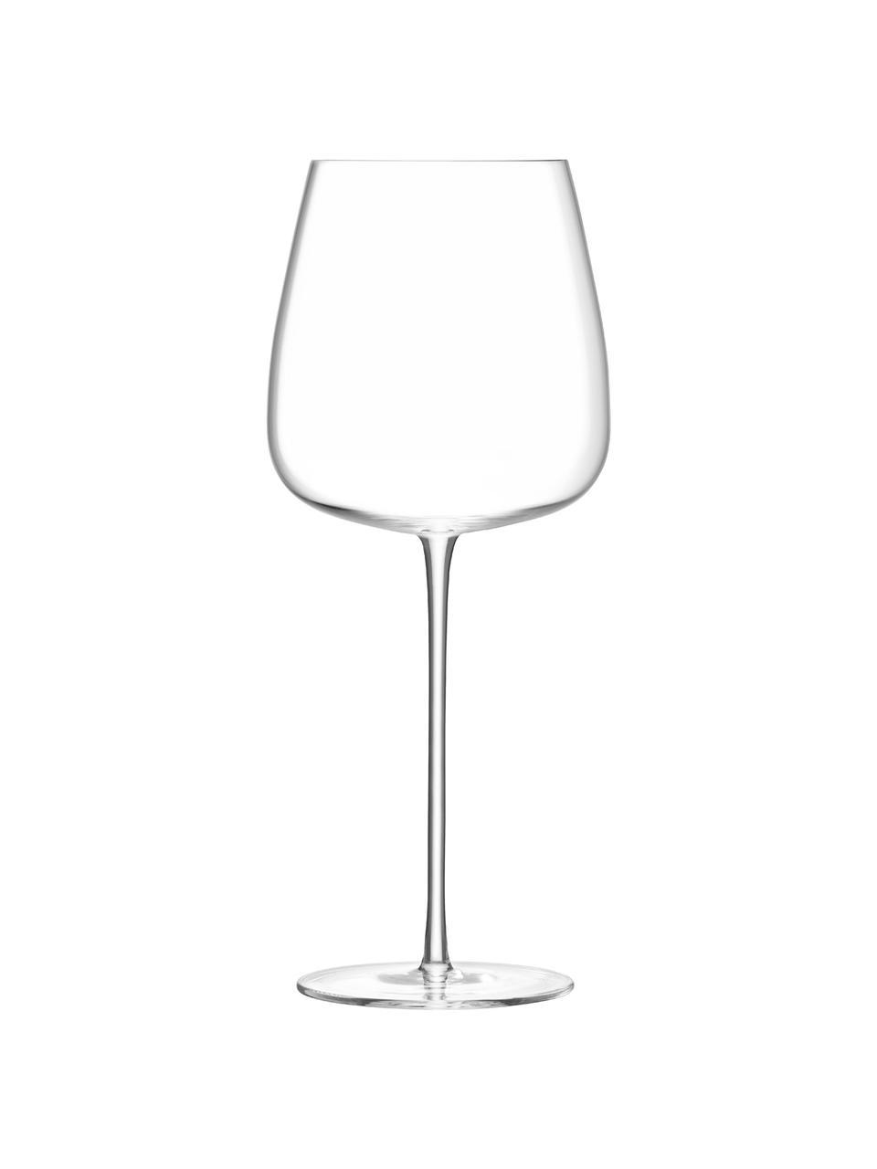 Mundgeblasene Rotweingläser Wine Culture, 2er-Set, Glas, Transparent, Ø 11 x H 26 cm