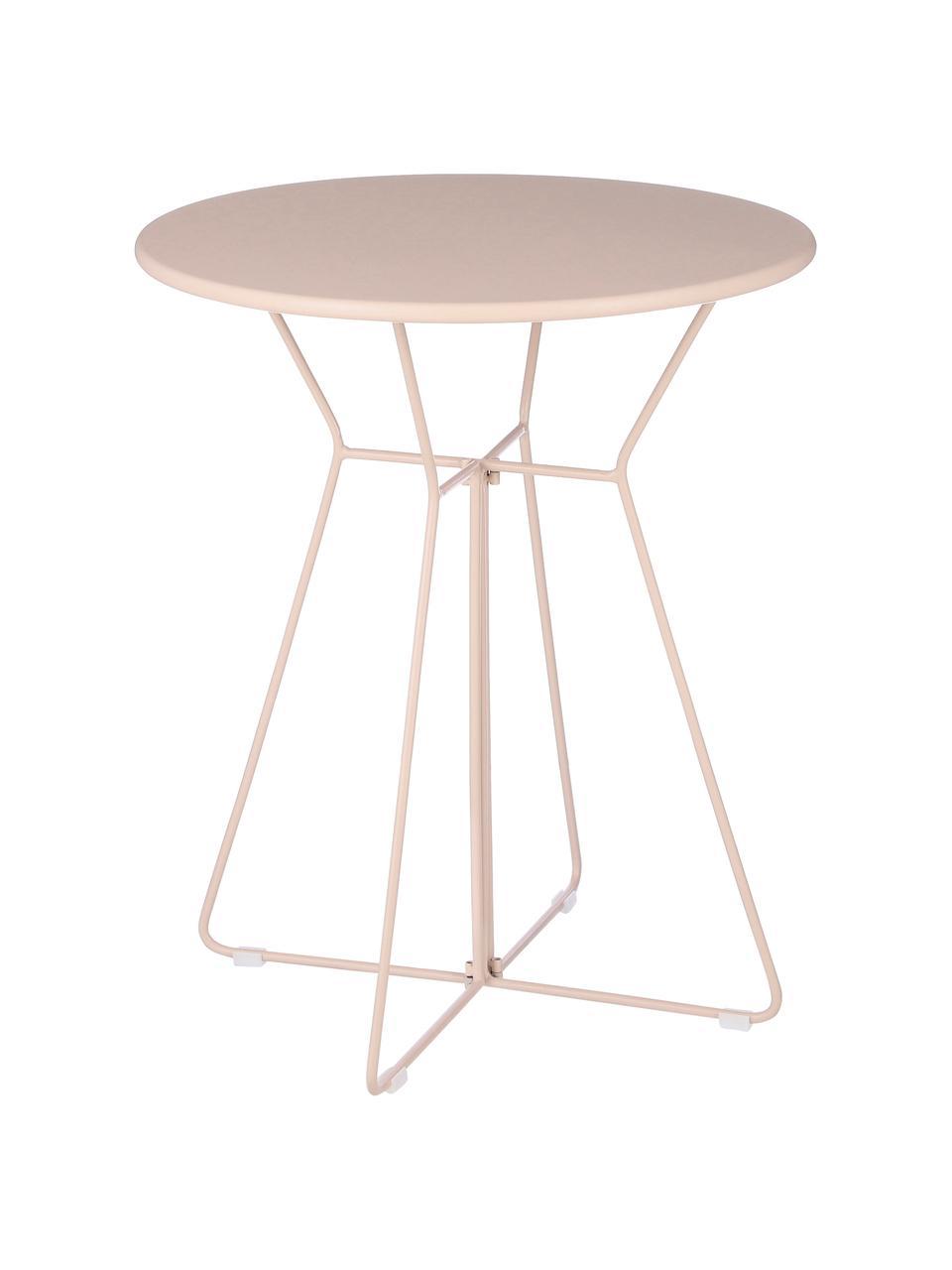 Table de balcon ronde en métal Bueno, Rose
