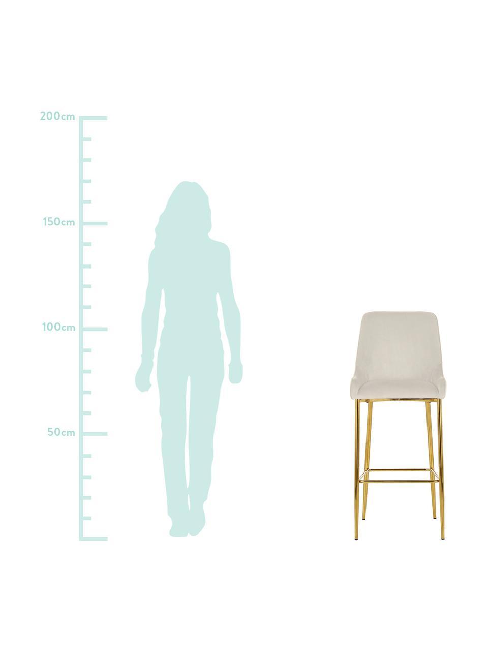 Samt-Barstuhl Ava, Bezug: Samt (100% Polyester) Der, Samt Beige, 48 x 107 cm