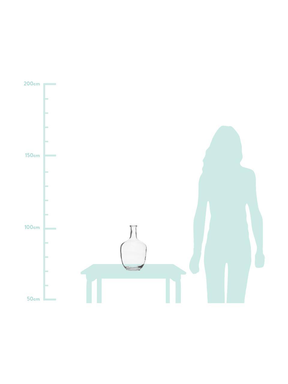 Grote glazen vaas Glassyia, Glas, Transparant, Ø 17 x H 31 cm
