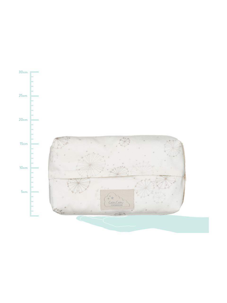 Feuchttücherbezug Dandelion aus Bio-Baumwolle, 100% Biobaumwolle, Creme, Beige, B 25 x T 17 cm