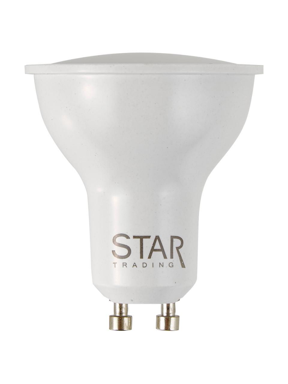 GU10 Leuchtmittel, 5.5W, Lichtfarbe dimmbar, 1 Stück, Leuchtmittelschirm: Kunststoff, Leuchtmittelfassung: Aluminium, Weiß, Ø 5 x H 6 cm