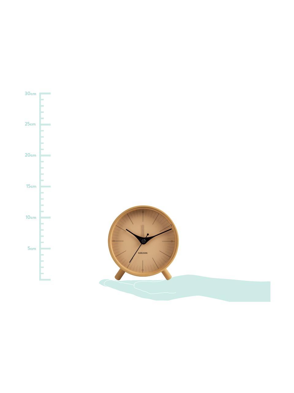 Despertador Index, Metal recubierto, Mostaza, negro, Ø 11 cm
