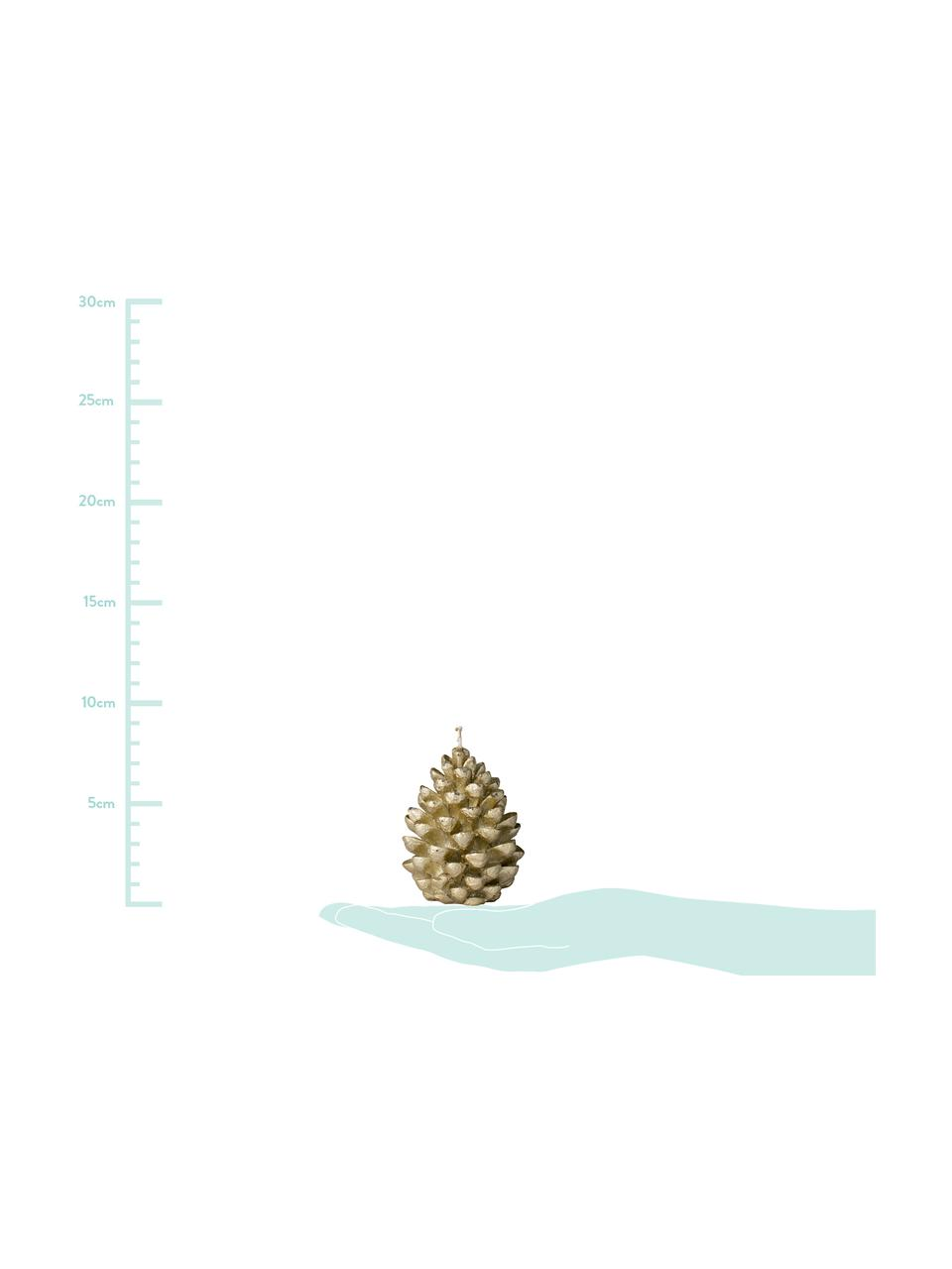 Candela a forma di pigna Nordic Decoration, 4 pz, Paraffina, Dorato, Ø 6 x Alt. 9 cm