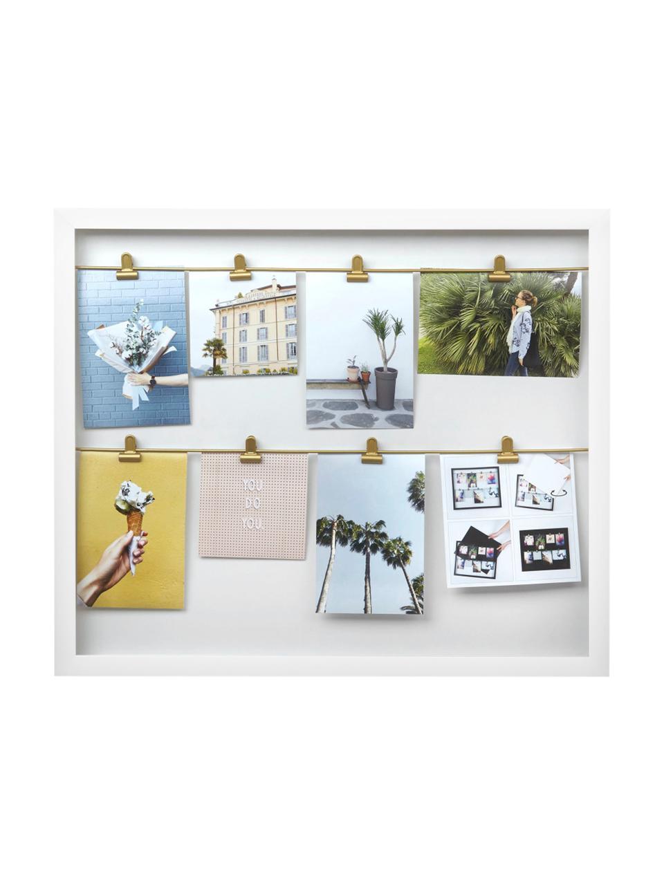 Bilderrahmen Clipline, Kunststoff, Weiß, 10 x 15 cm