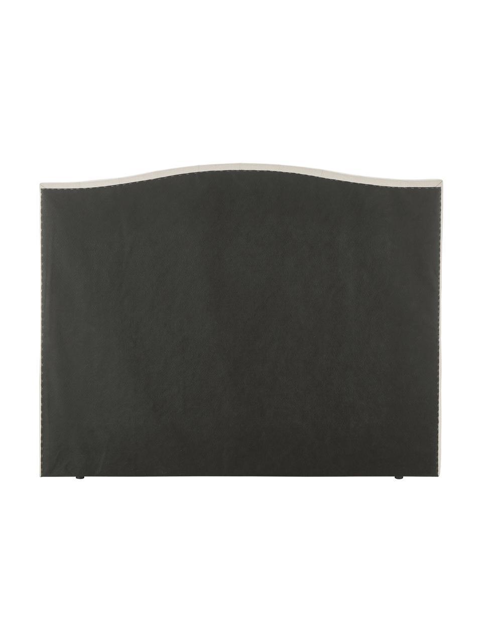 Beige premium boxspring bed Royal, met gecapitonneerd hoofdeinde, Matras: 5-zones pocketvering, Poten: massief gelakt berkenhout, Stof beige, 200 x 200 cm