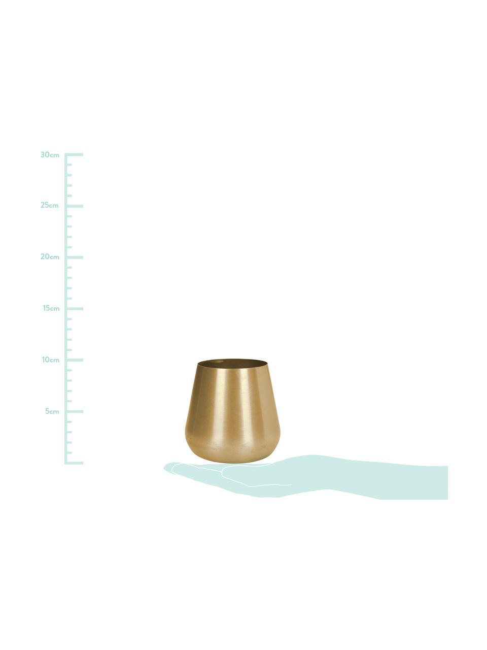 Jarrón pequeño de metal Simply, Metal, recubierto y no impermeable, Latón, Ø 10 x Al 9 cm