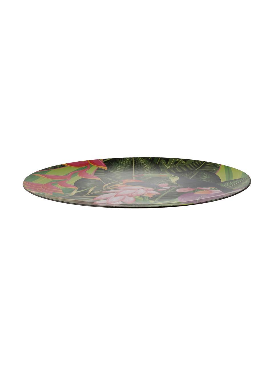 Piatti piani Tropical Bird, 2 pz., Polipropilene, con carta rivestito, Verde, rosa, lilla, arancione, nero, Ø 33 cm