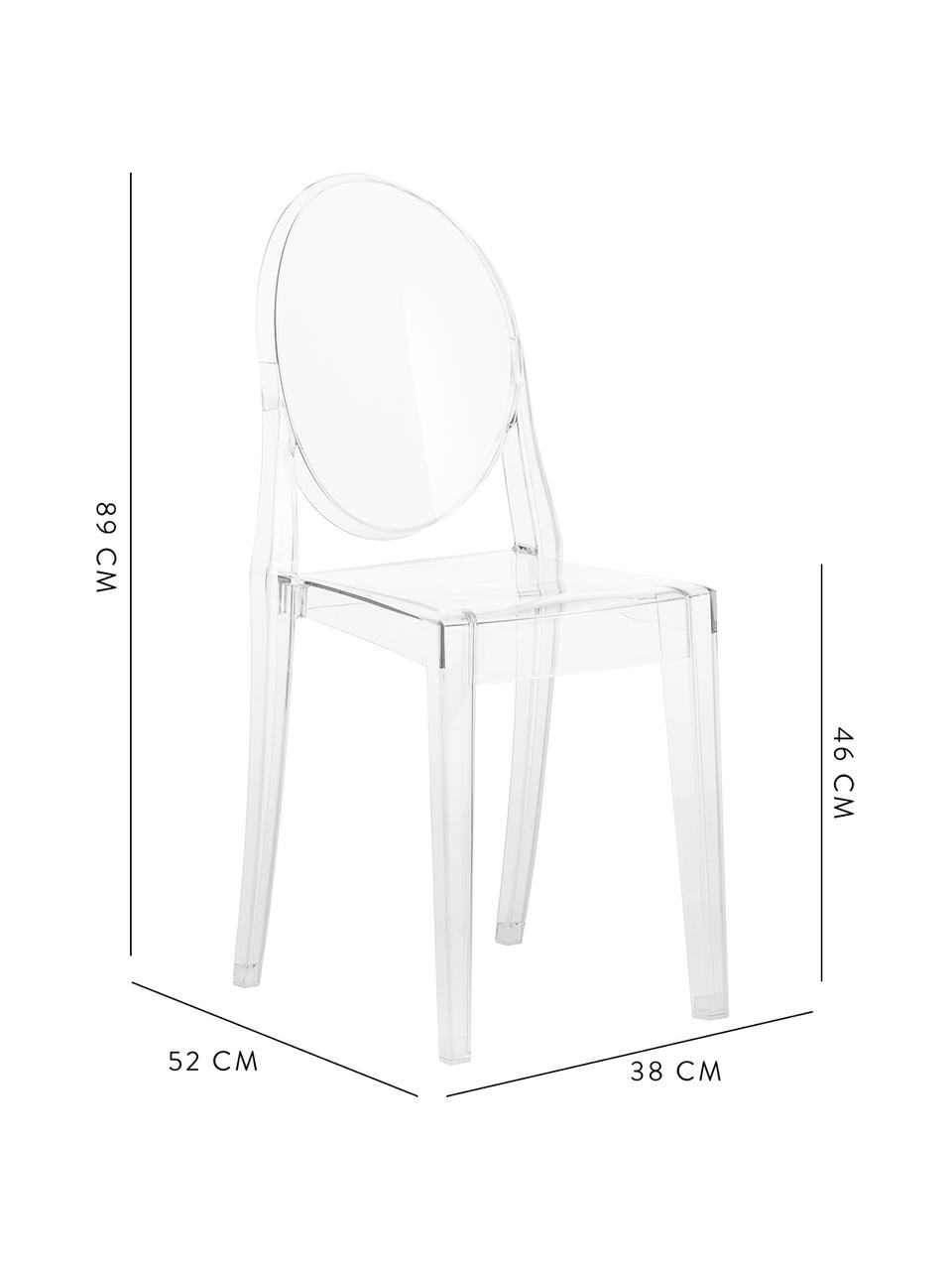 Chaise transparente en plastique Victoria Ghost, Transparent