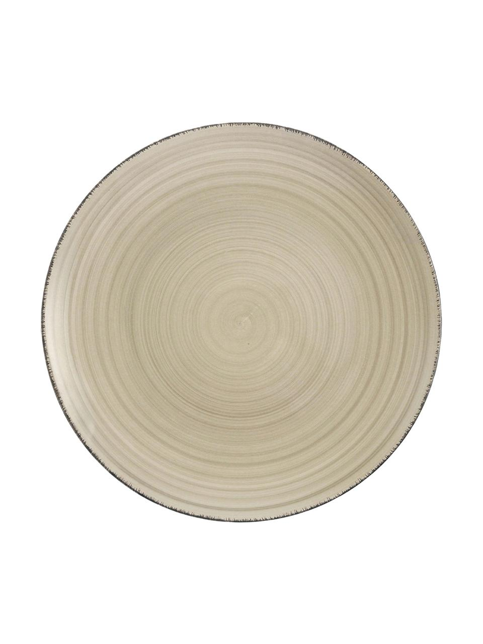 Piatto piano dipinto a mano Baita 6 pz, Terracotta (Hard Dolomite), dipinto a mano, Grigio, Ø 27 cm