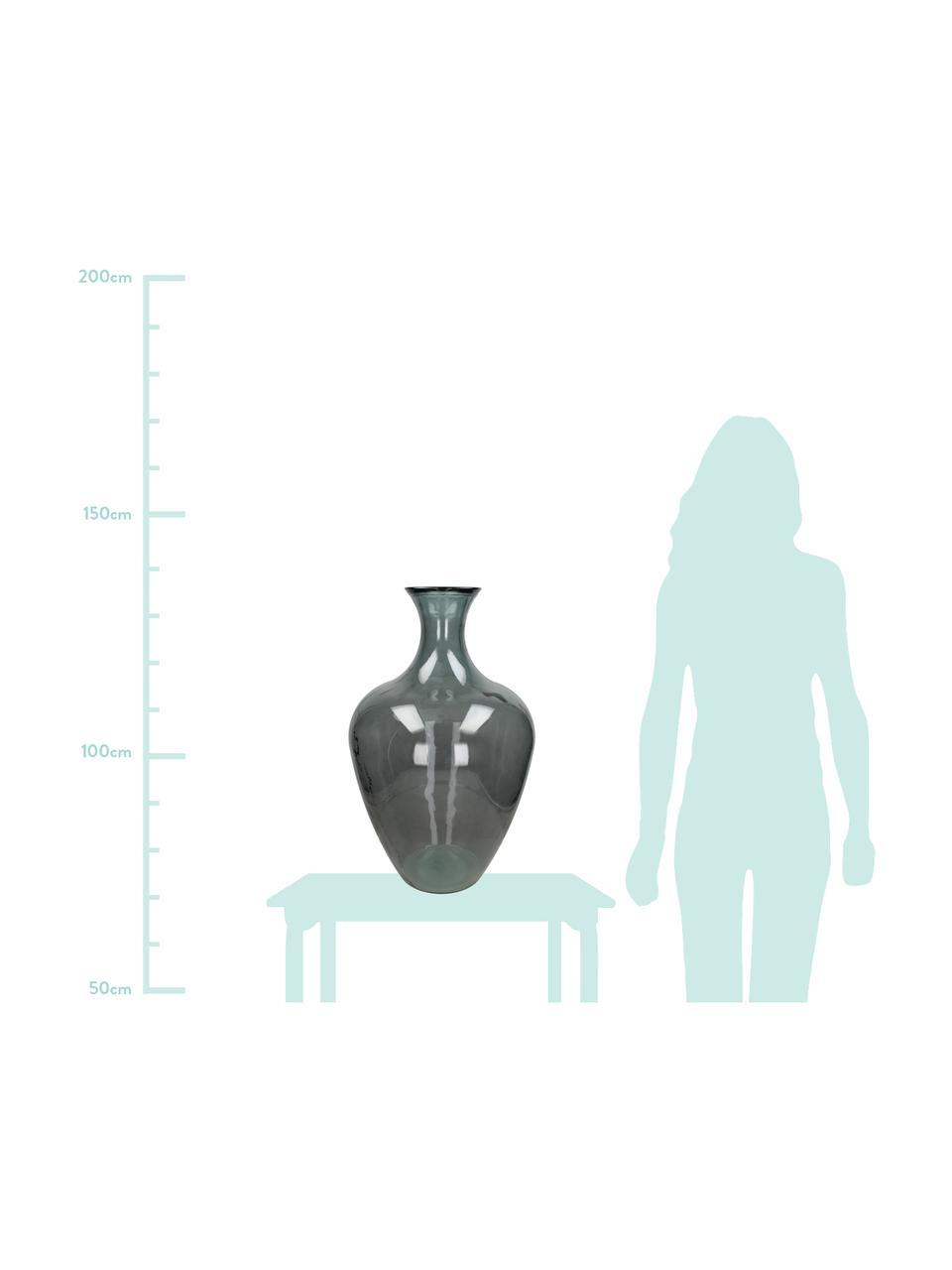 Große Glasvase Beryl, Glas, Grau, Ø 40 x H 65 cm