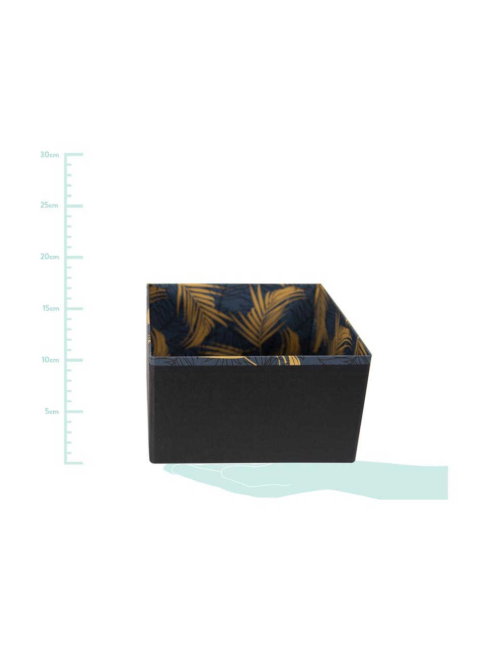 Organizer Drawer 2 pz, Solido, cartone laminato, Dorato, blu grigio, L 18 x A 10 cm