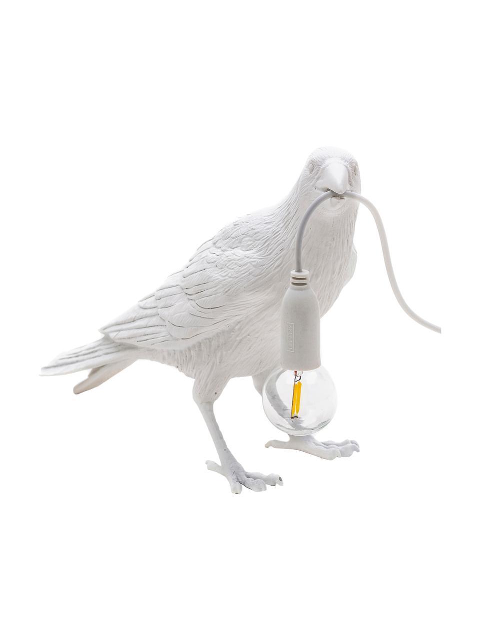 Design-Tischlampe Bird, Weiß, 33 x 12 cm