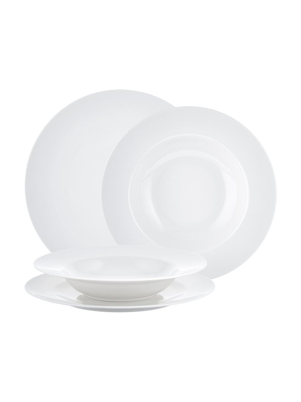 Servizio di porcellana For Me 8 pz, Porcellana, Bianco latteo, Set in varie misure
