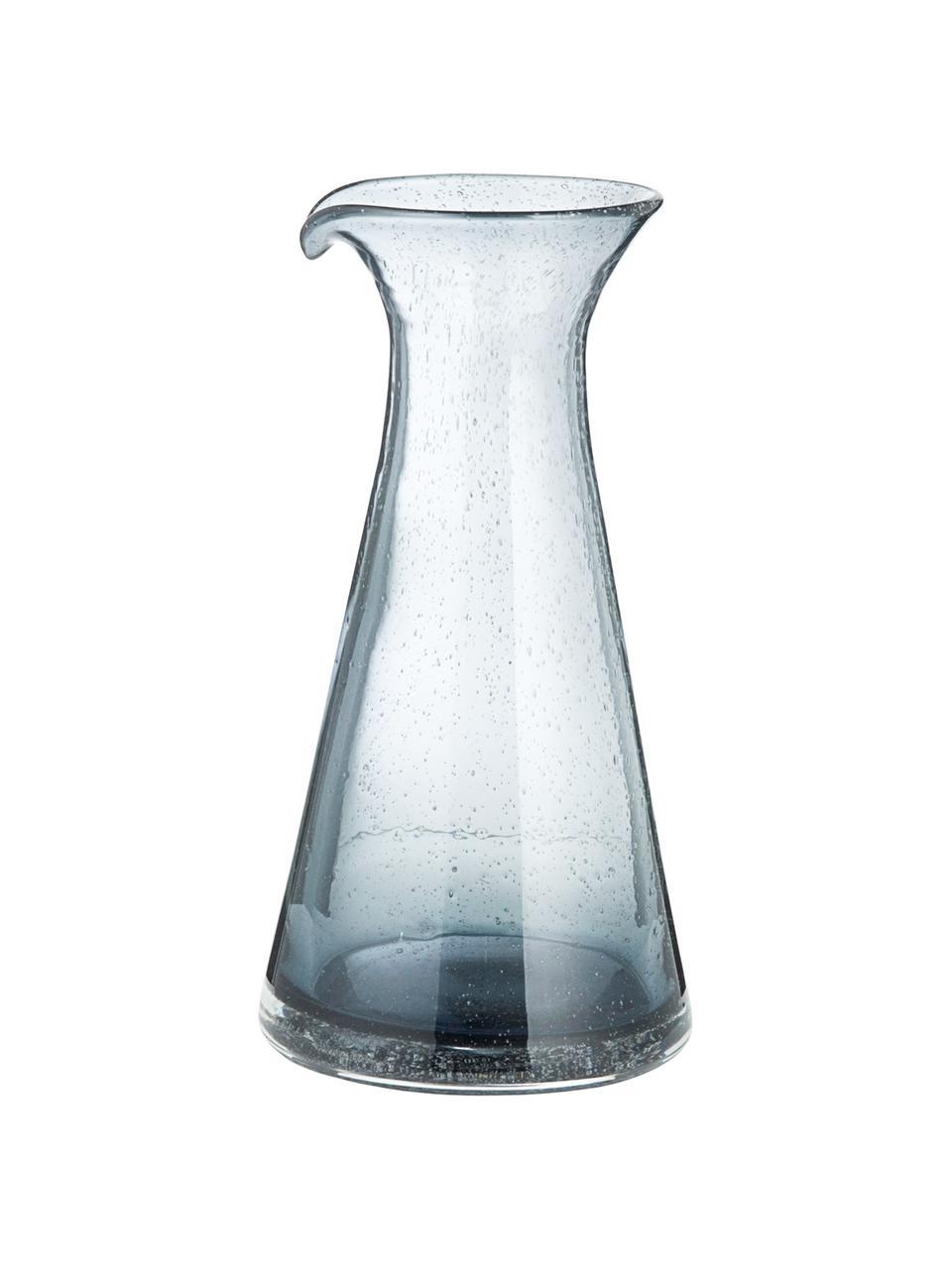 Carafe verre soufflé Bubble, 800ml, Transparent, gris