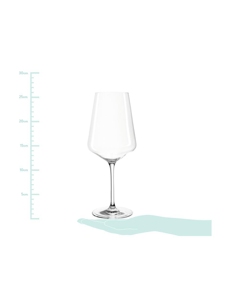 Verre à vin rouge moderne Puccini, 6pièces, Transparent
