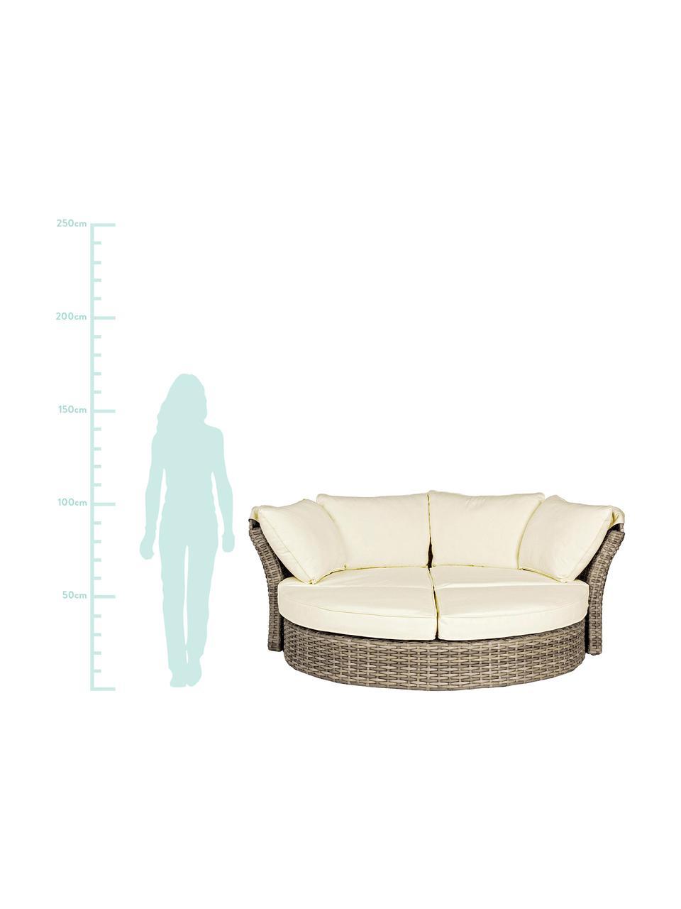 Sofa ogrodowa Lesly, Stelaż: aluminium malowane proszk, Beżowy, taupe w odcieniu zieleni, S 200 x W 168 cm