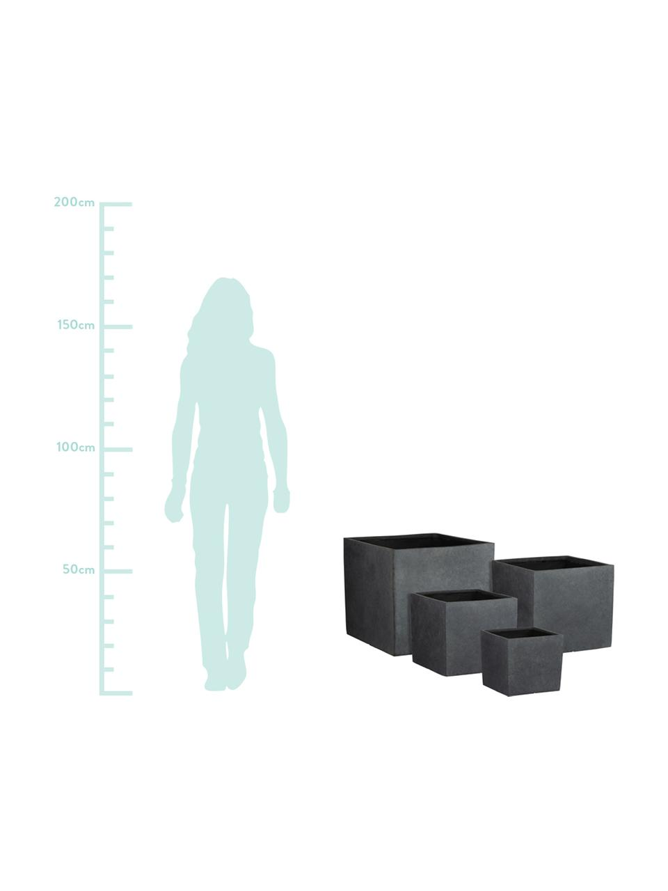 XL Pflanztopf-Set Bravo, 4-tlg., Kunststoff, Anthrazit, Set mit verschiedenen Größen
