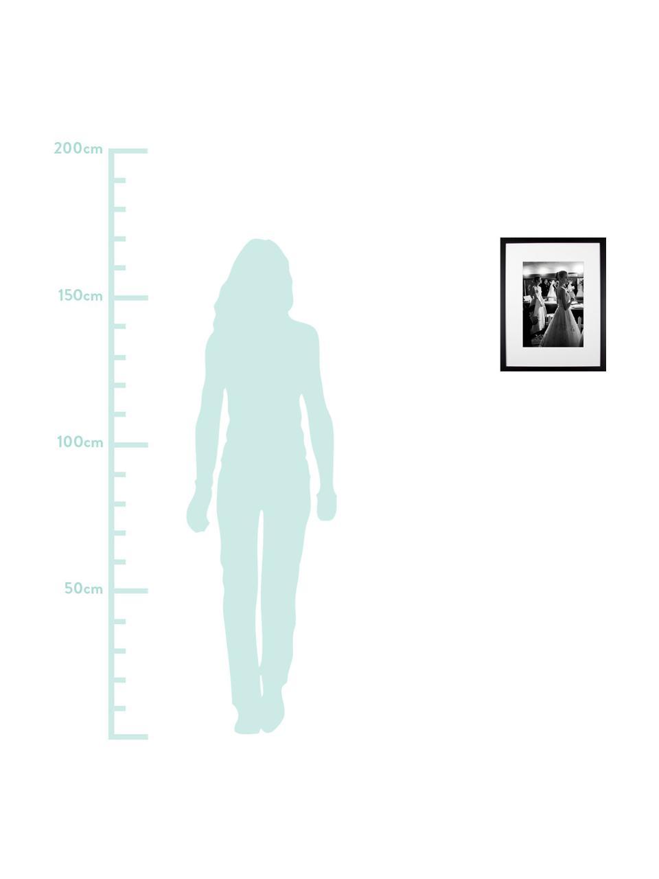 Impression numérique encadrée Grace Kelly et Audrey Hepburn, Image: noir, blanc Cadre: noir
