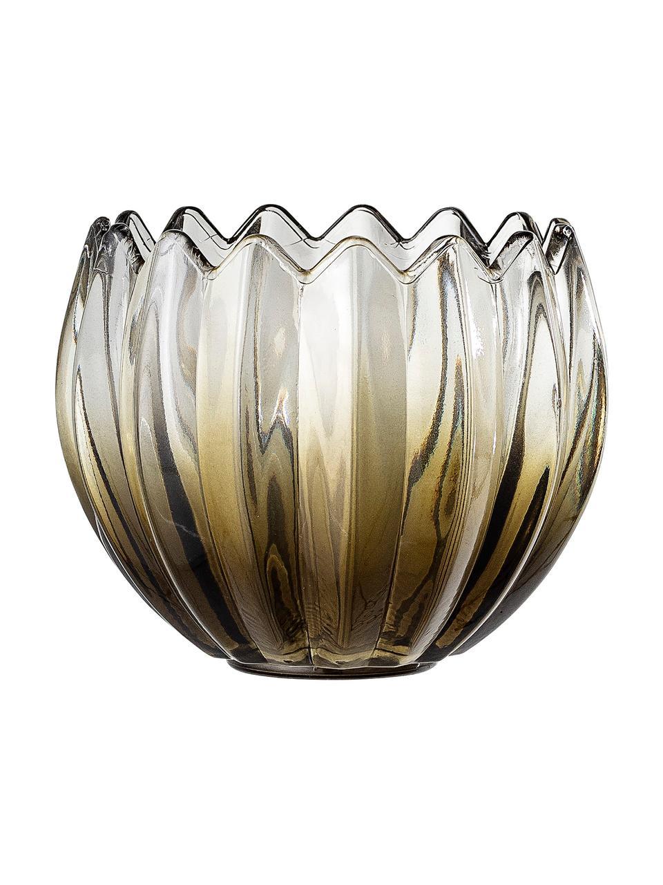 Waxinelichthouder Viva, Glas, Groen, transparant, Ø 13 x H 11 cm