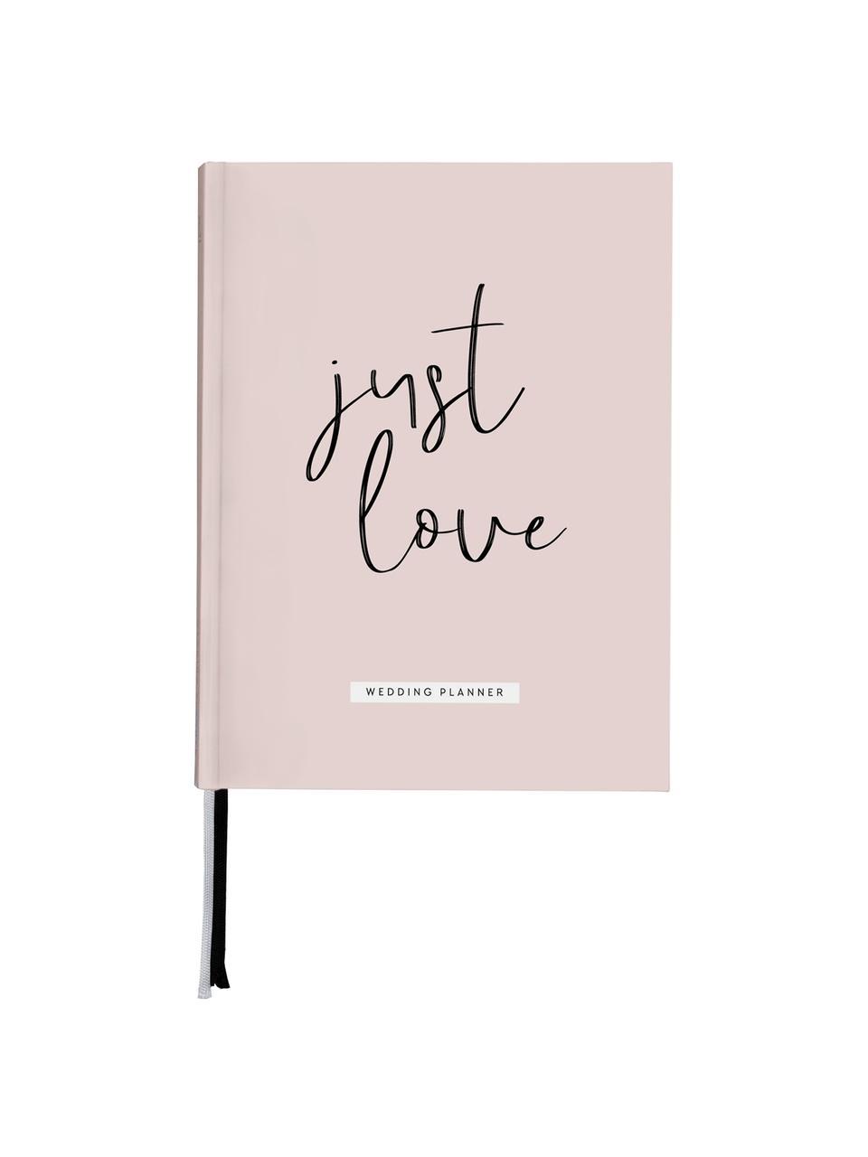 Hochzeitsplaner Just Love, Rosa, Weiß, Schwarz, 18 x 25 cm