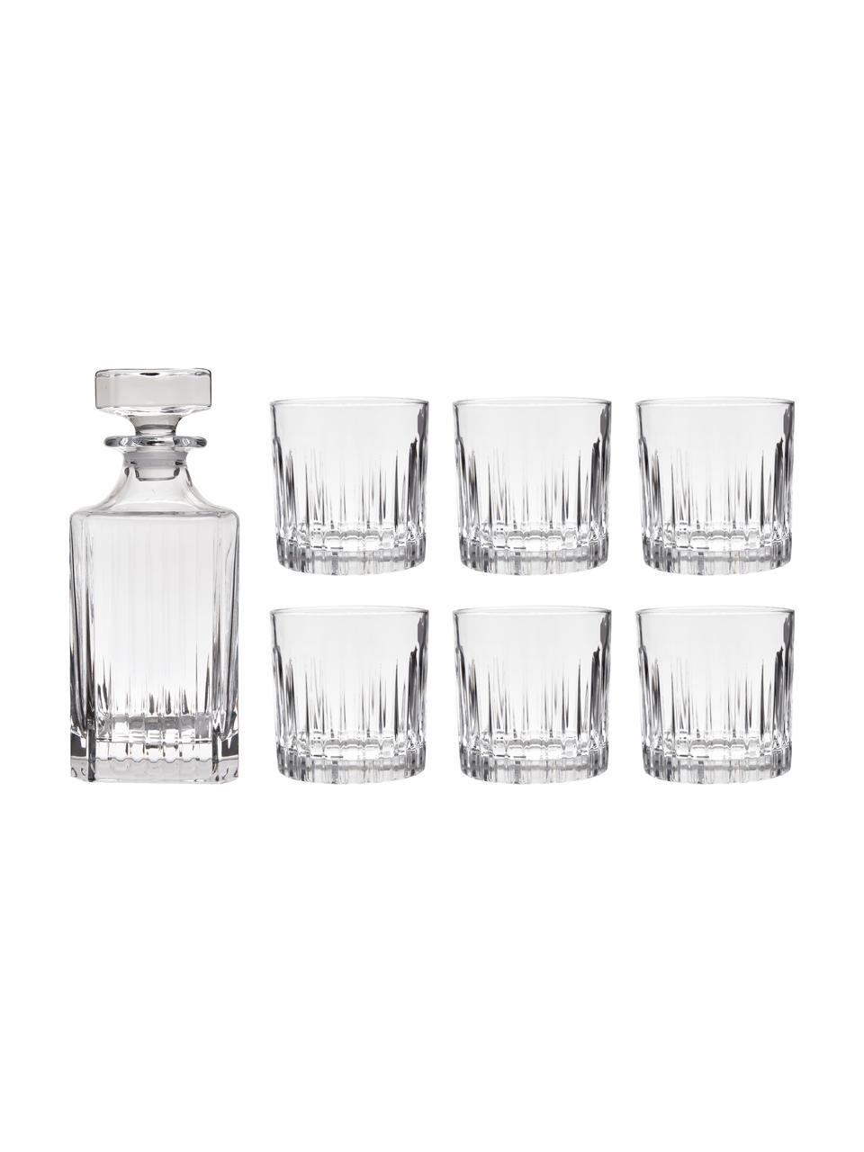 Set whisky in cristallo Timeless 7 pz, Cristallo, Trasparente, Set in varie misure