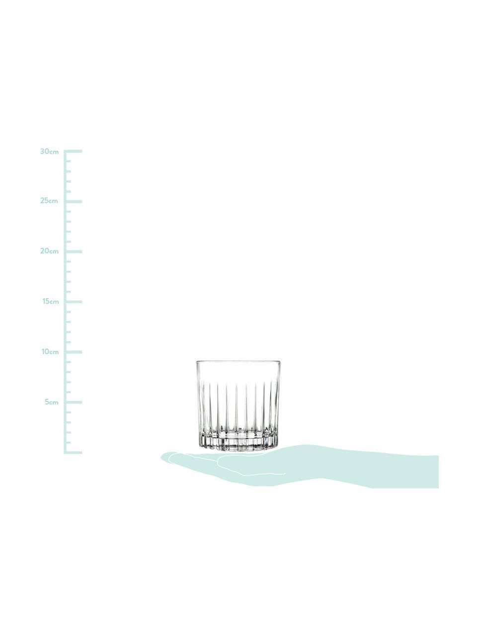 Verre à whisky cristal à rainuresTimeless, 6pièces, Transparent