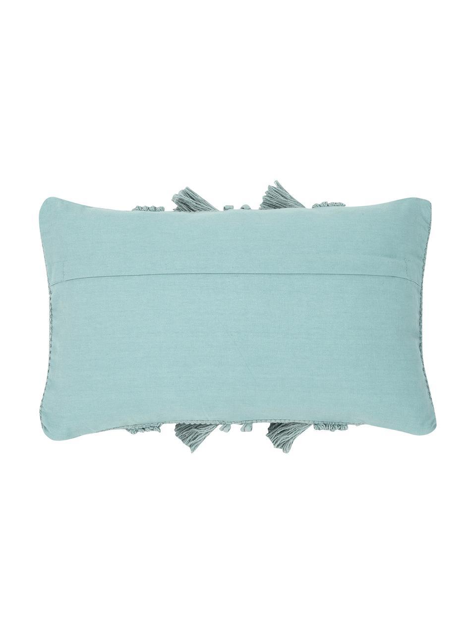 Federa arredo in cotone verde salvia Monika, 100% cotone, Verde salvia, Larg. 30 x Lung. 50 cm