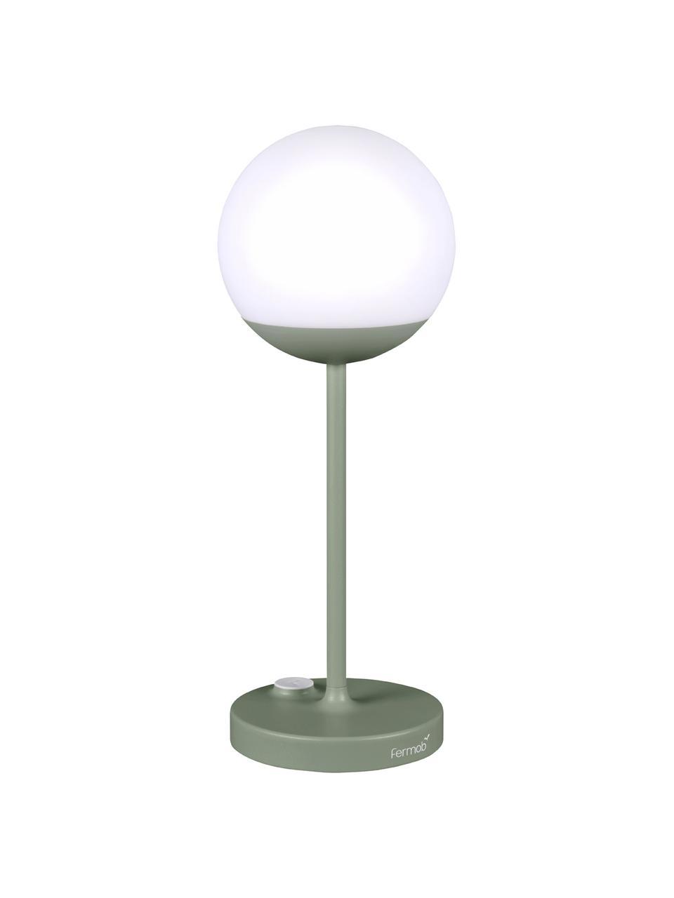 Mobiele outdoor LED lamp Mooon, Lampenkap: kunststof, Groen, Ø 15 x H 41 cm