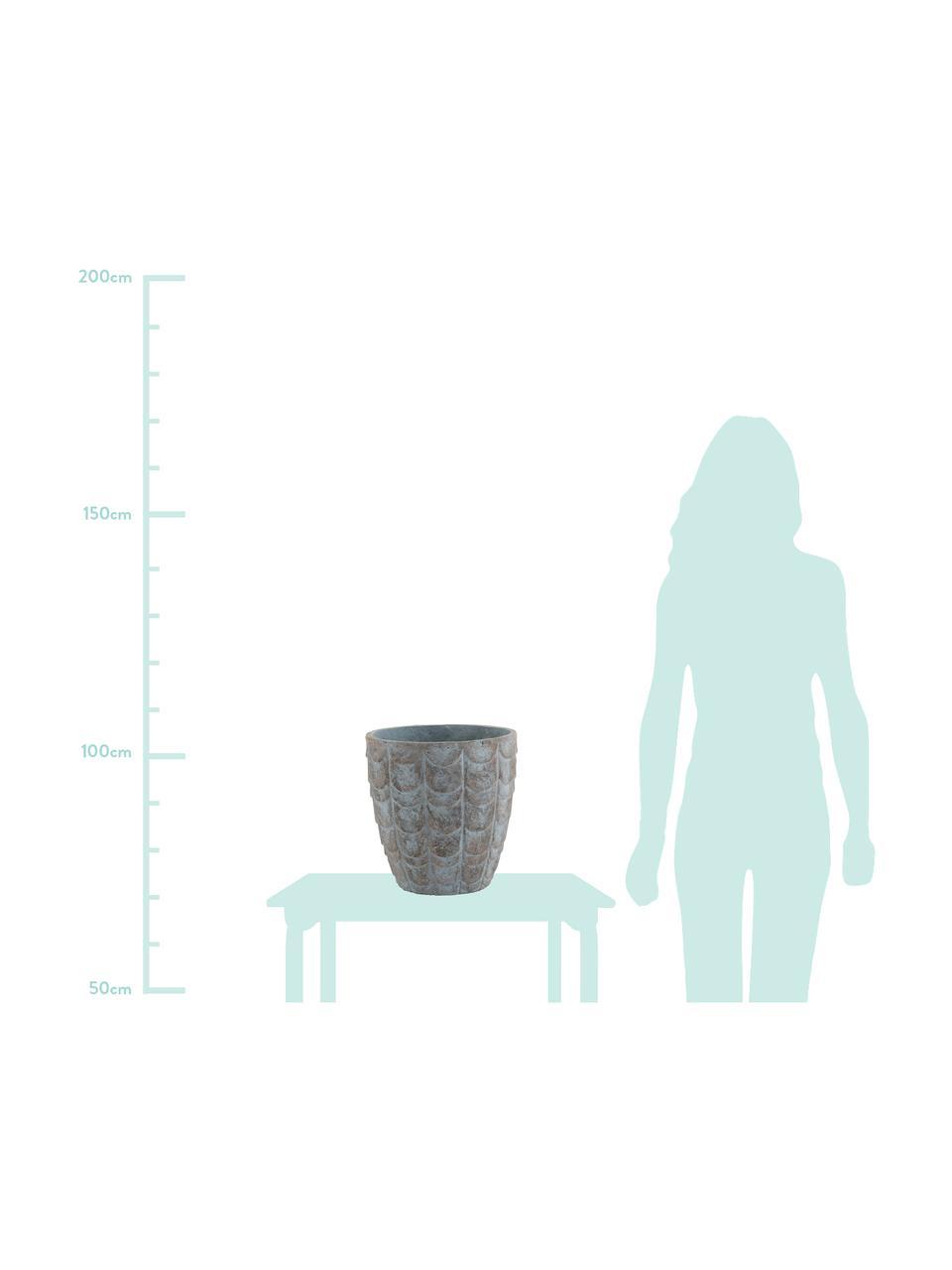 Doniczka Scales, Beton, Niebieski, szary, Ø 32 x W 33 cm