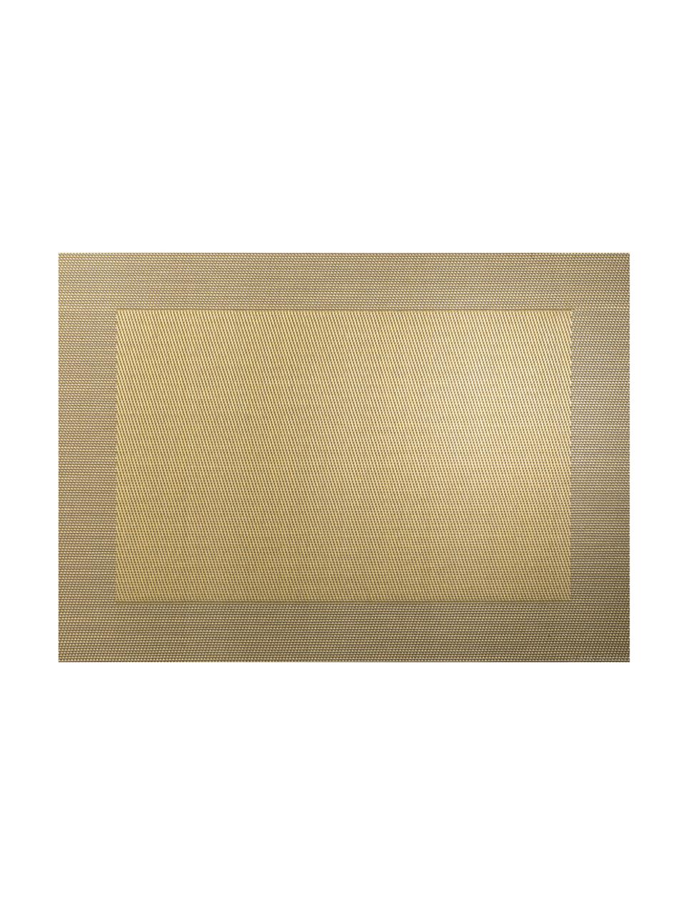 Podkładka  ze sztucznej skóry Trefl, 2 szt., Tworzywo sztuczne (PVC), Odcienie złotego, S 33 x D 46 cm