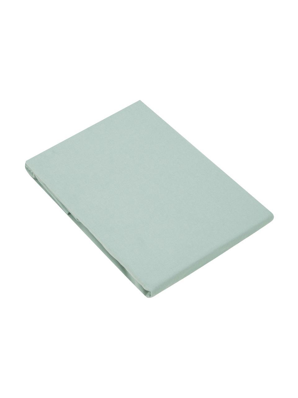 Lenzuolo con angoli in flanella verde salvia Biba, Tessuto: flanella, Verde salvia, Larg. 180 x Lung. 200 cm