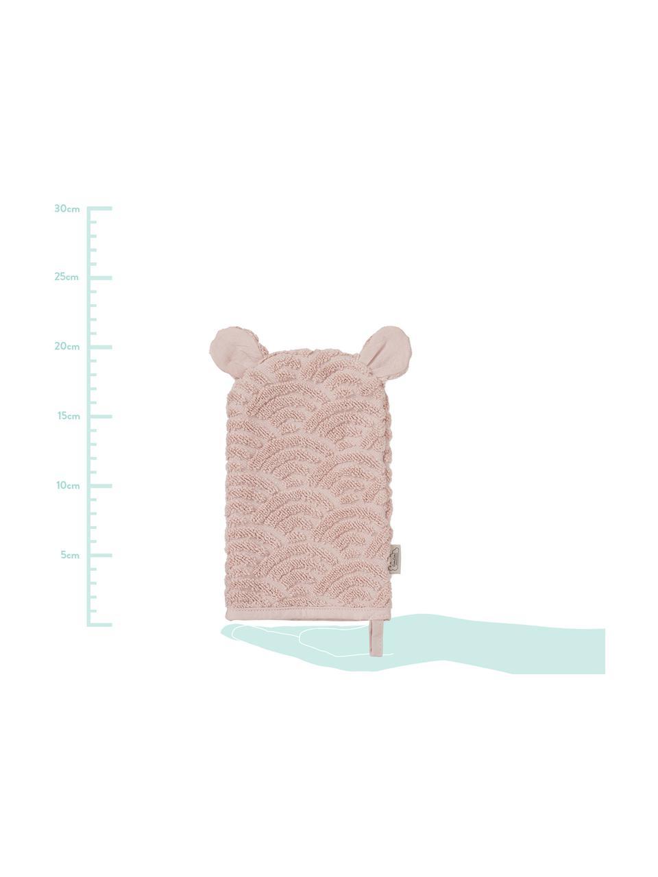 Waschlappen Wave aus Bio-Baumwolle, 100% Biobaumwolle, Rosa, 15 x 22 cm